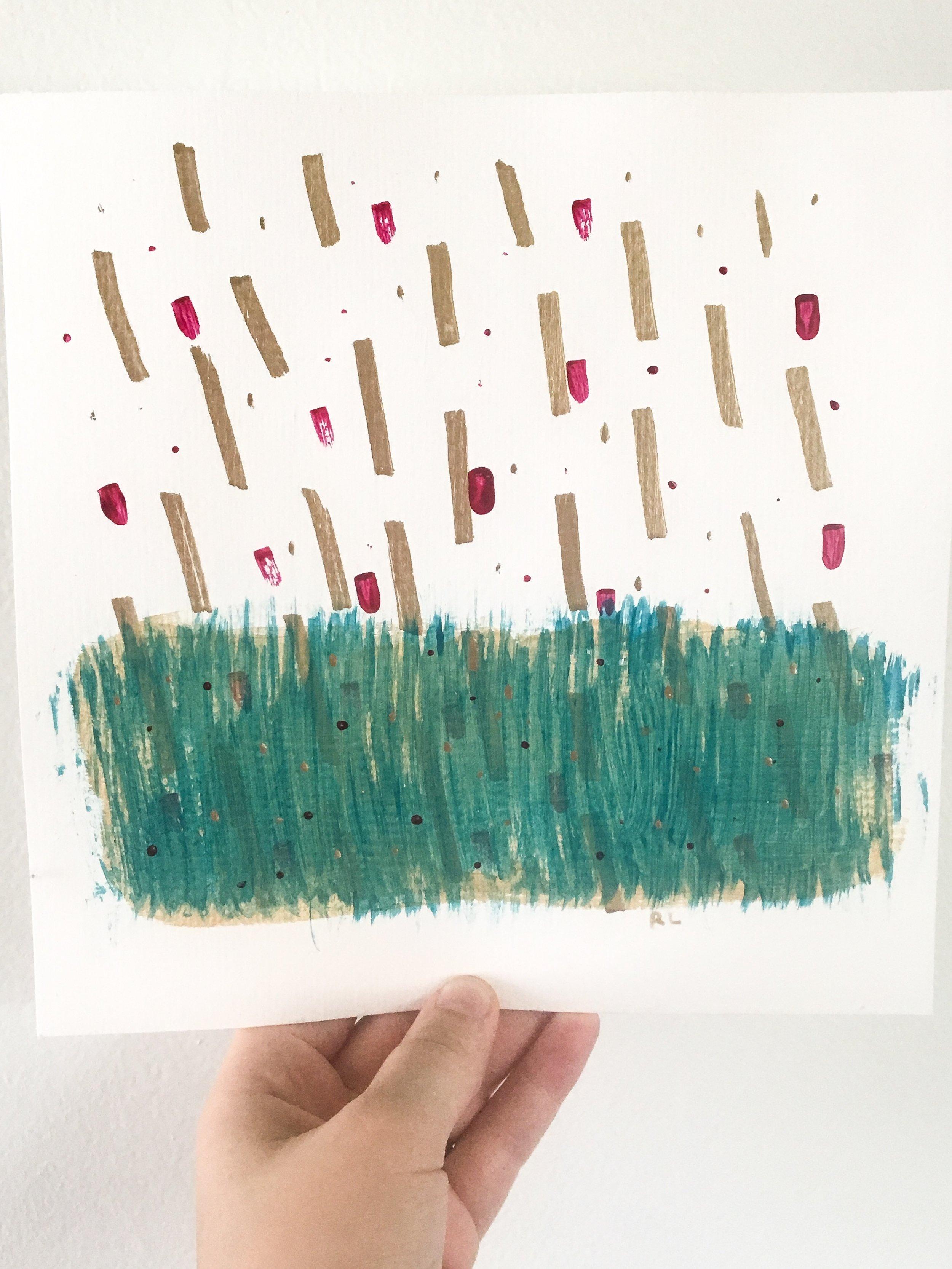 Raining sunshine || Ordinary Time in my studio || Rachel Loewens Fine Art