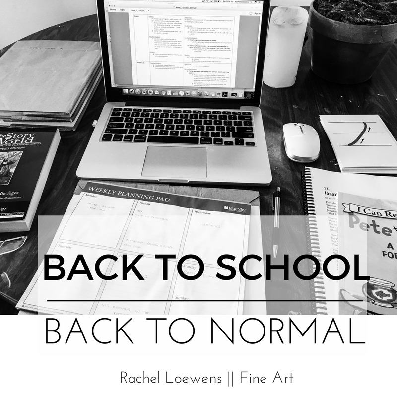 Back to school, back to normal || blog post || Rachel Loewens Fine Art