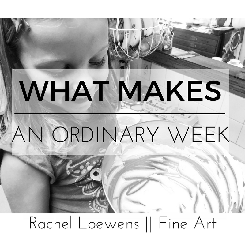 Pretty Pavlova || What makes an ordinary week || blog post || Rachel Loewens Fine Art