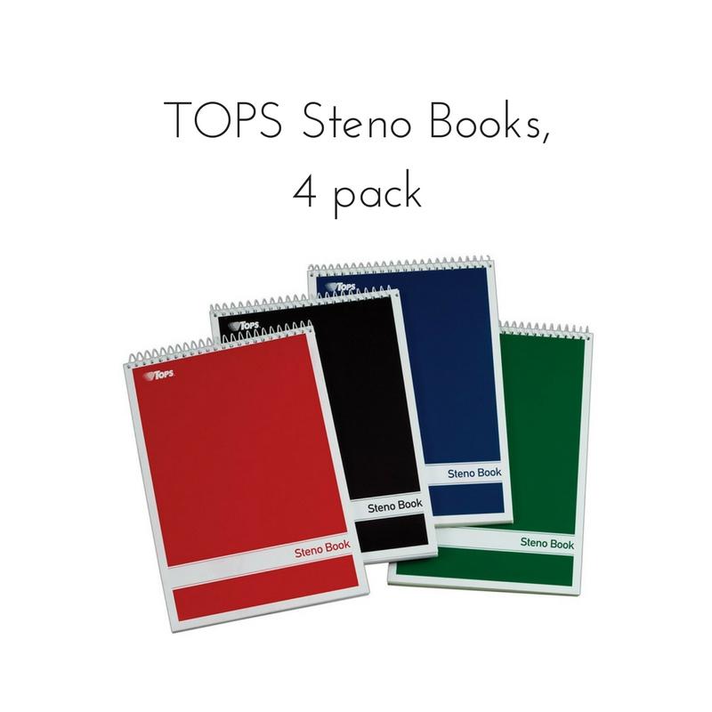TOPS Steno Pad, 4 pack || Rachel Loewens Fine Art