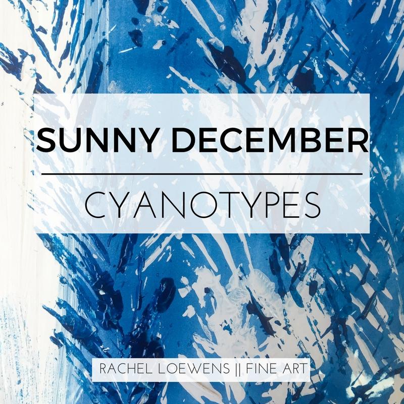 Sunny December Cyanotype || Rachel Loewens Fine Art