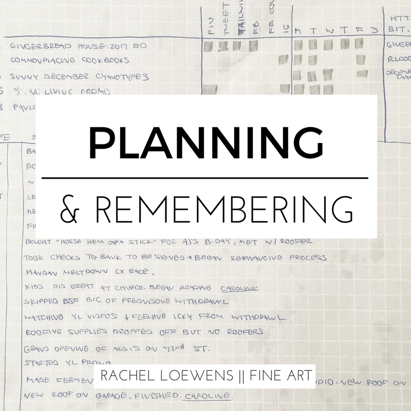 Planning and Remembering || Rachel Loewens Fine Art