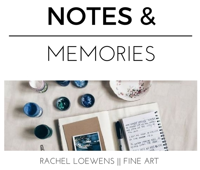 Notes and Memories || Planners and Bullet Journals || Rachel Loewens Fine Art