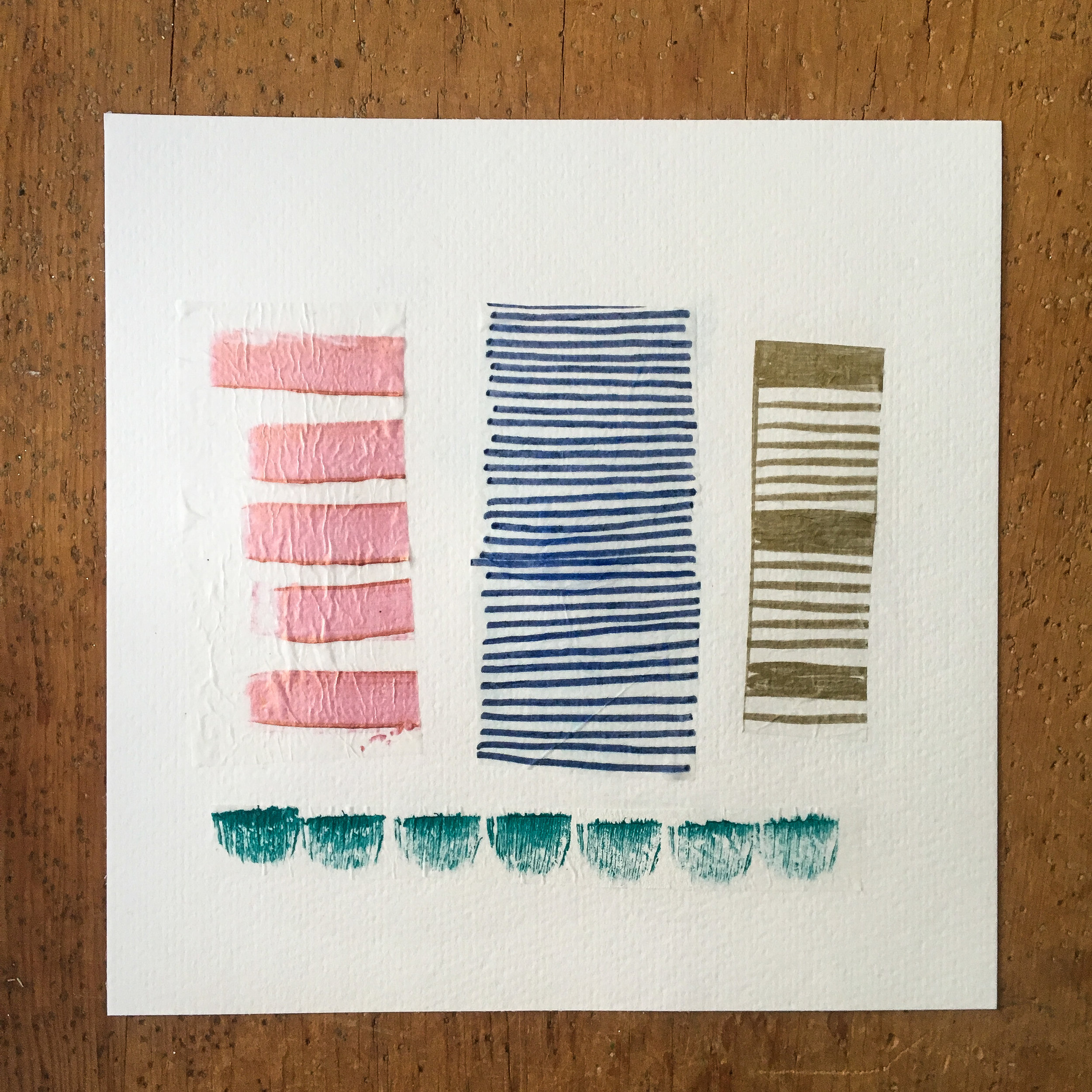 Celebrating wellness || an abstract collage mini-series || Rachel Loewens Fine Art