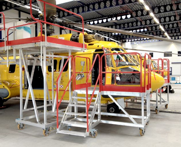 Helicopter Side Aluminium Access Steps