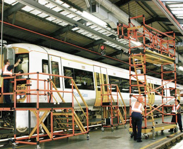 Fibreglass Train Access Stands