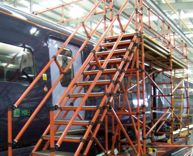 Fibreglass Train Roof Access Steps