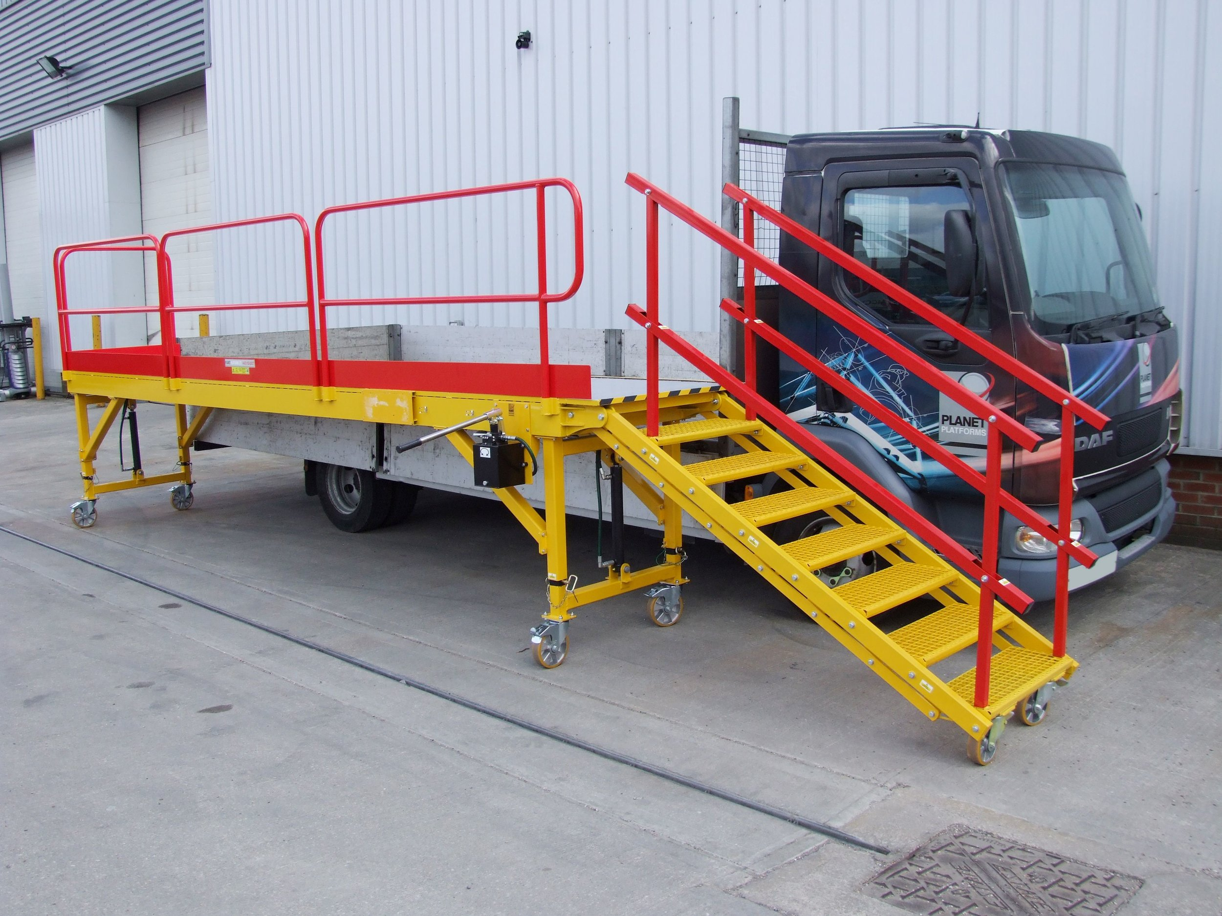 Aluminium Access Steps and Stand.