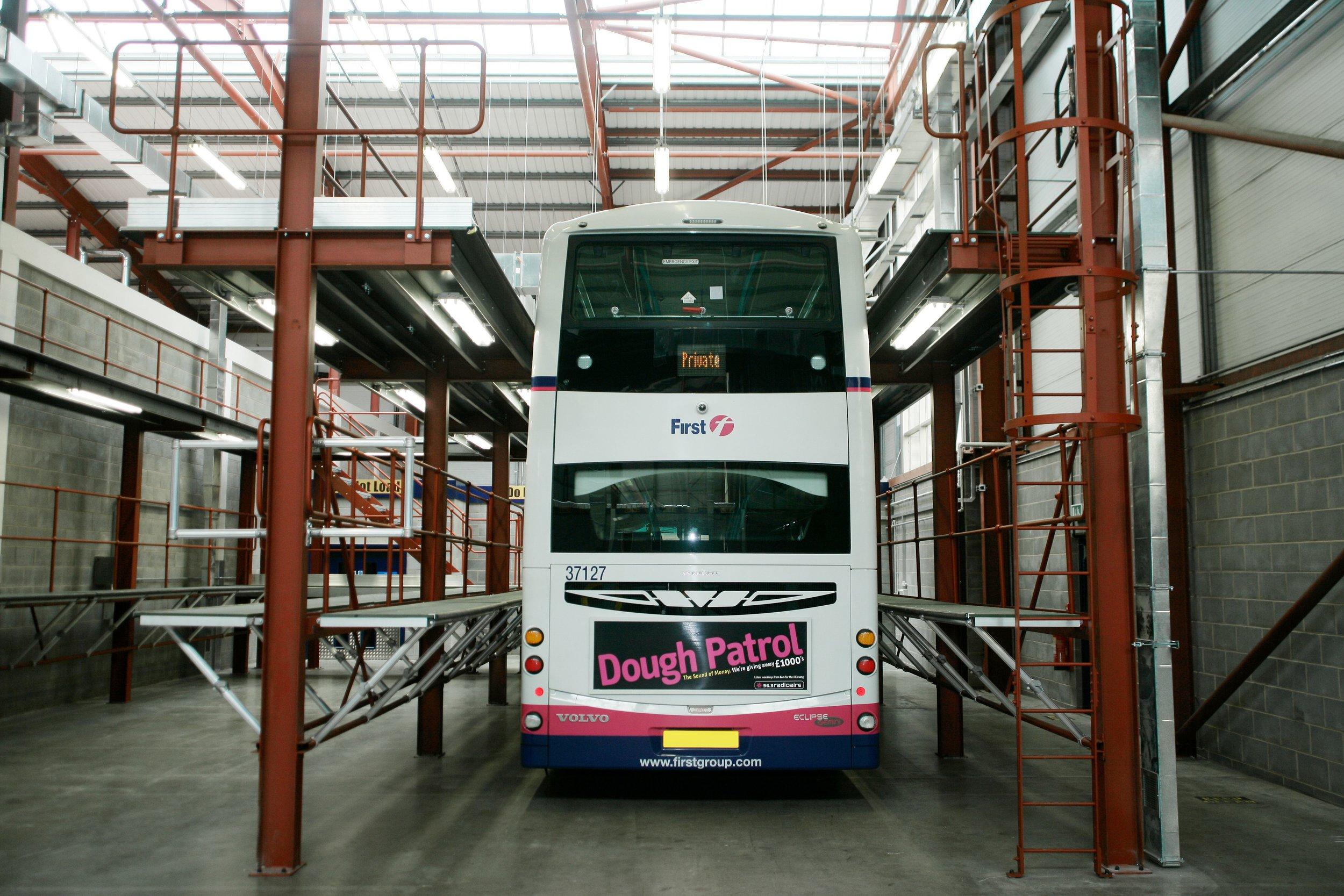 Bus Maintenance Bays.