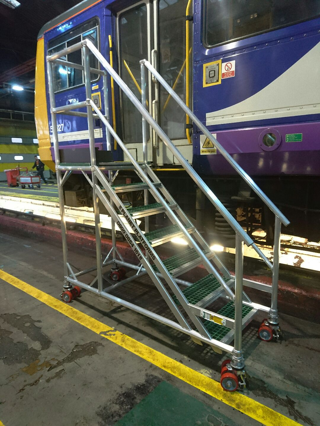 78. Train Aluminium Access Steps