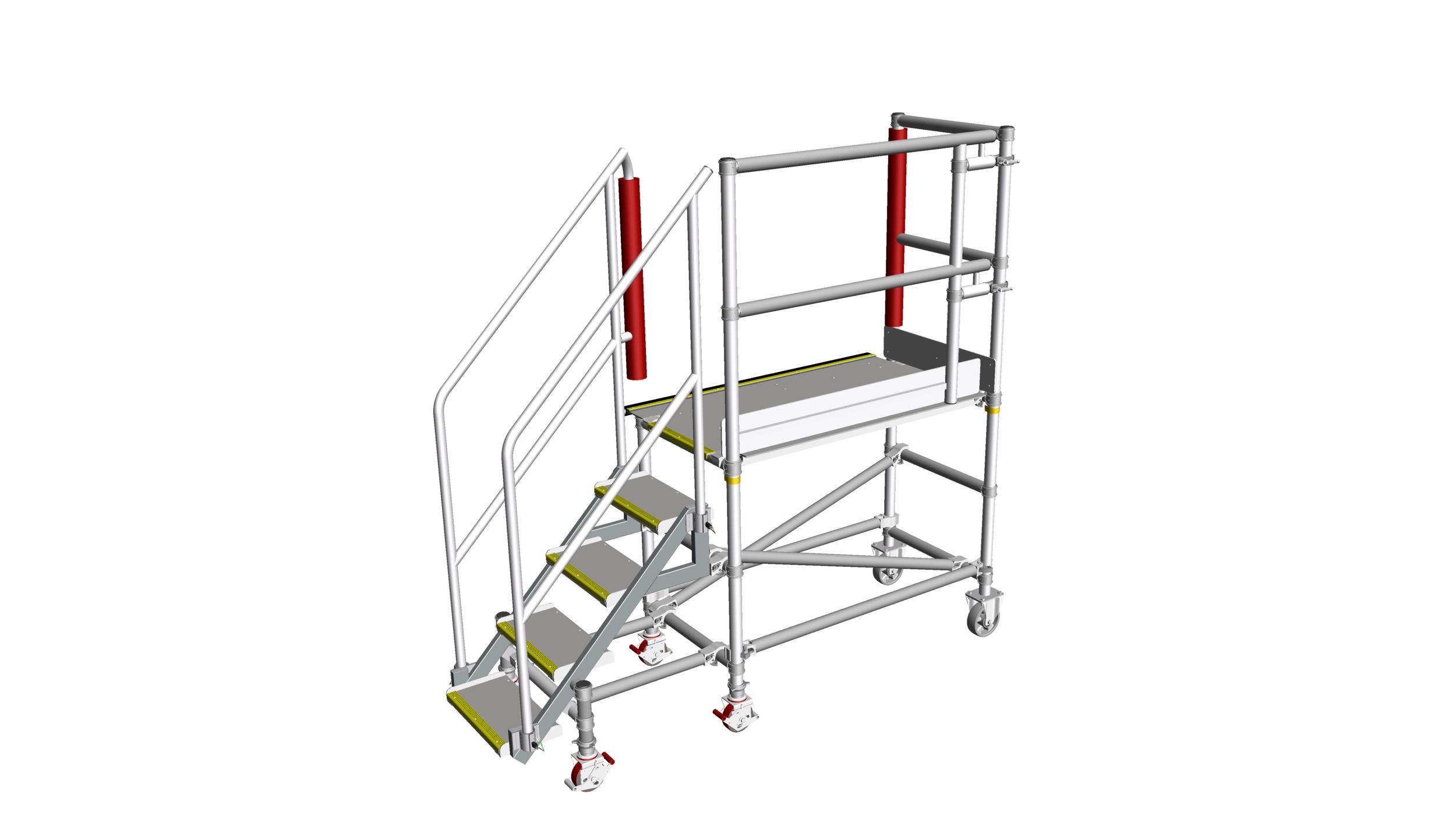 19. Low level platform steps