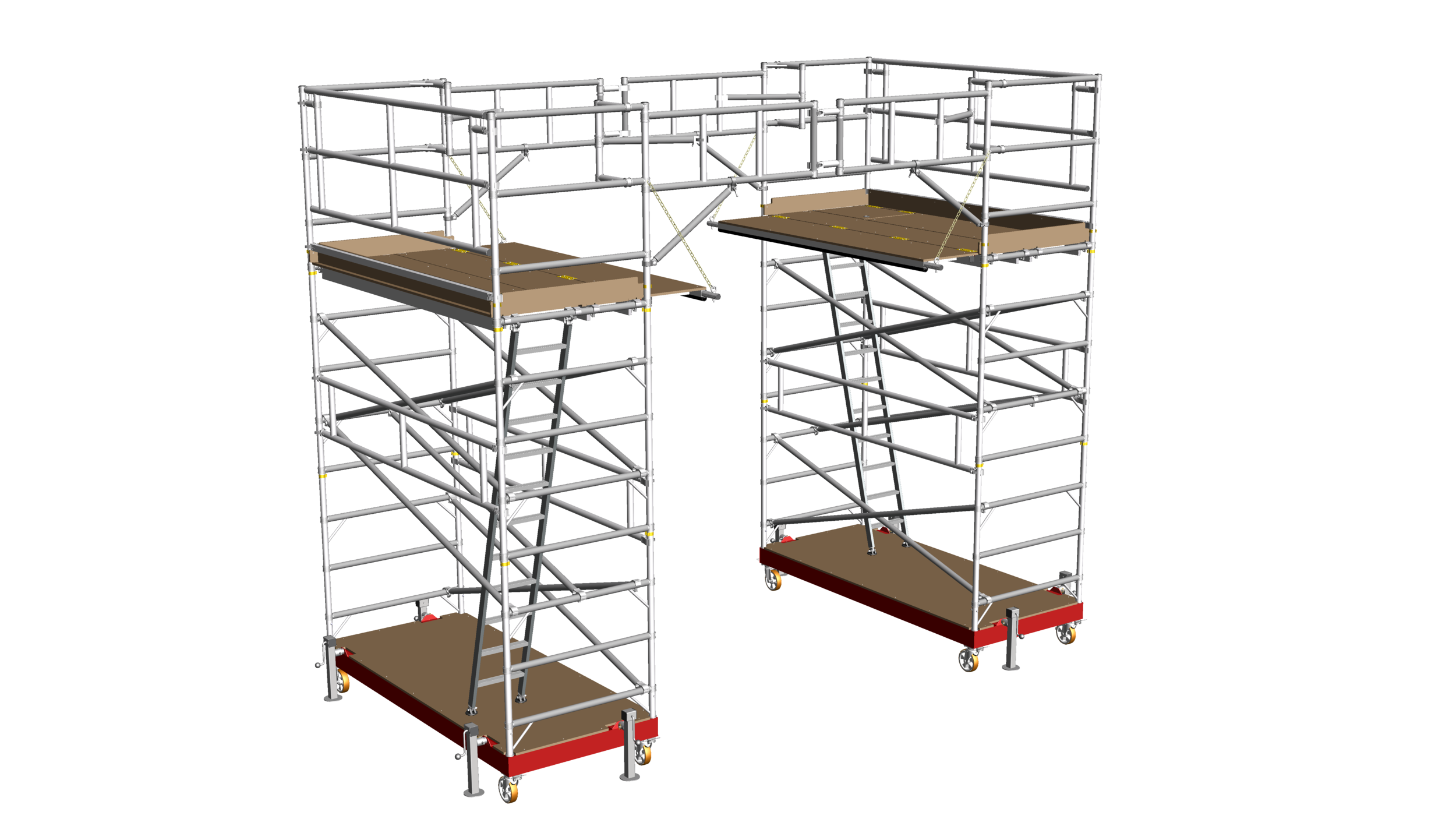 20. Linked train roof access platforms