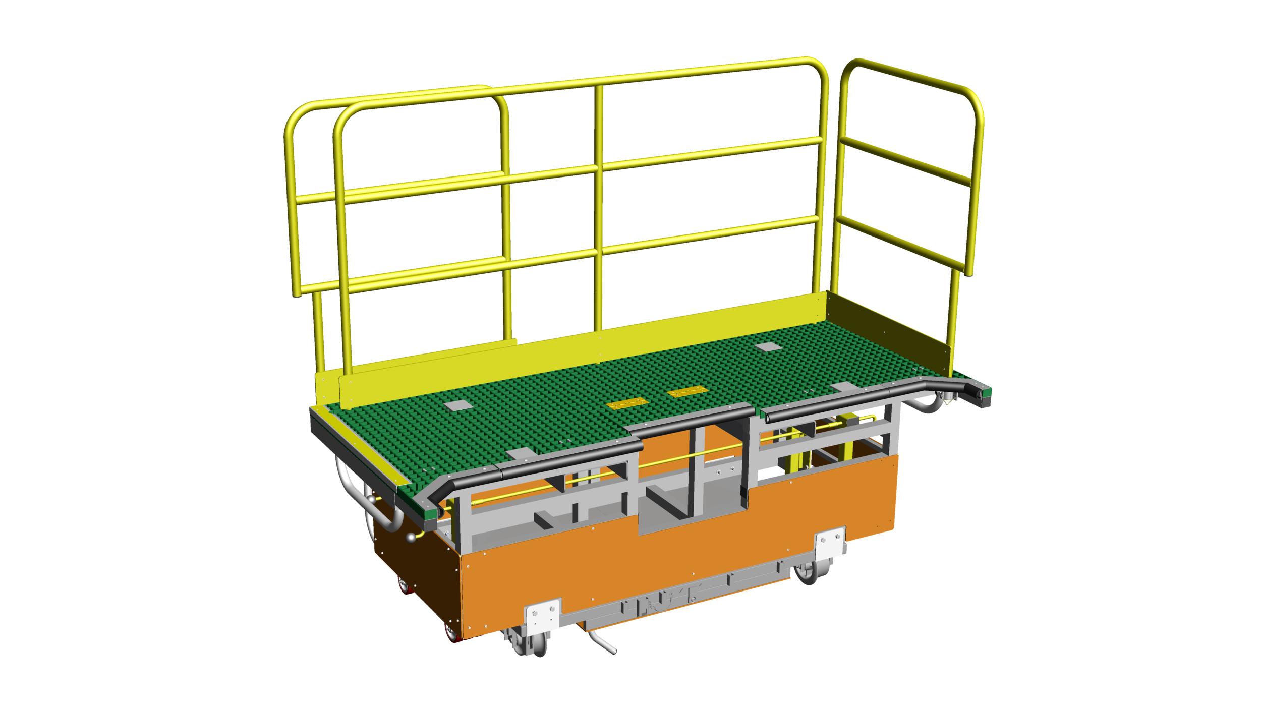 14. Rail mounted platform