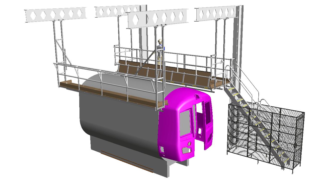 5. Train roof access gantry