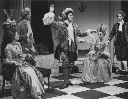"Black and white scene from ""How Theater Saved America"" by Teresa Eyring, American Theatre Magazine, July/August 2008."