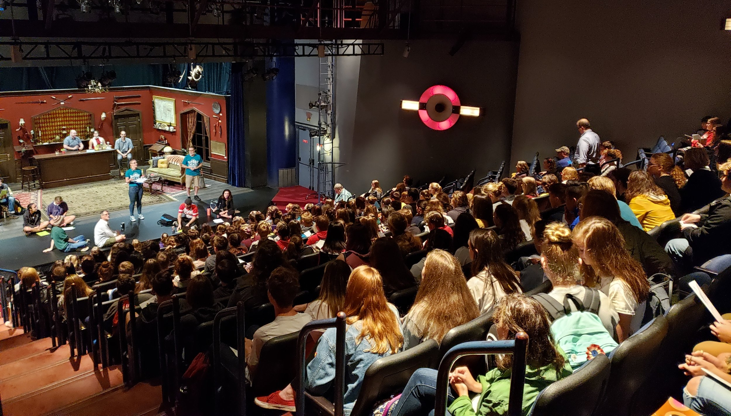 Image of seated crowd at a Bloomsburg Theater Ensemble play.