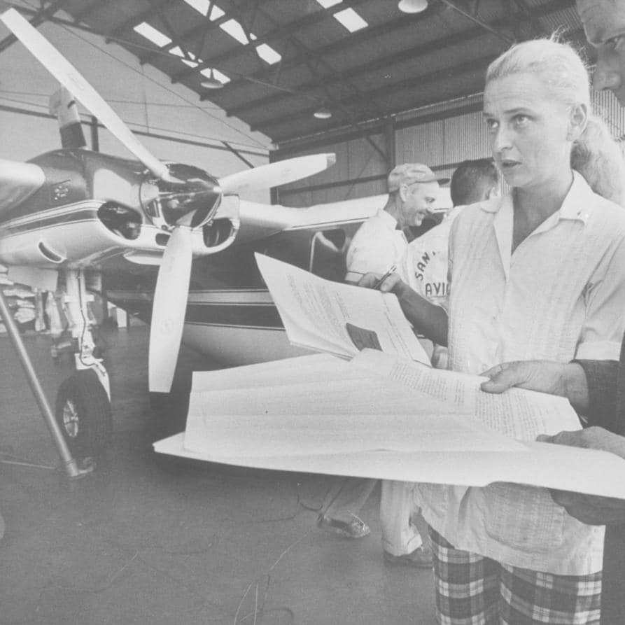 "Jerrie Cobb - A well-regarded U.S. pilot who applied to become a NASA astronaut in the early 1960s, Cobb was one of ""The Mercury 13—"" a group of 13 females who pursued astronaut training and were then denied by NASA. Cobb was later celebrated for using her pilots skills towards humanitarian causes.More Info"