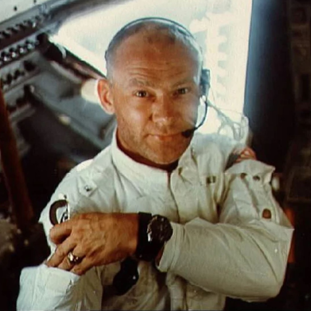 Buzz Aldrin - Buzz the lunar module pilot for Apollo 11, Aldrin was the second human to set foot on the moon (nine minutes after his mission commander, Neil Armstrong). Since Armstrong took most of the pictures, Aldrin is the iconic astronaut in the photos from the moon landing. He was also the first astronaut with a doctoral degree.More Info