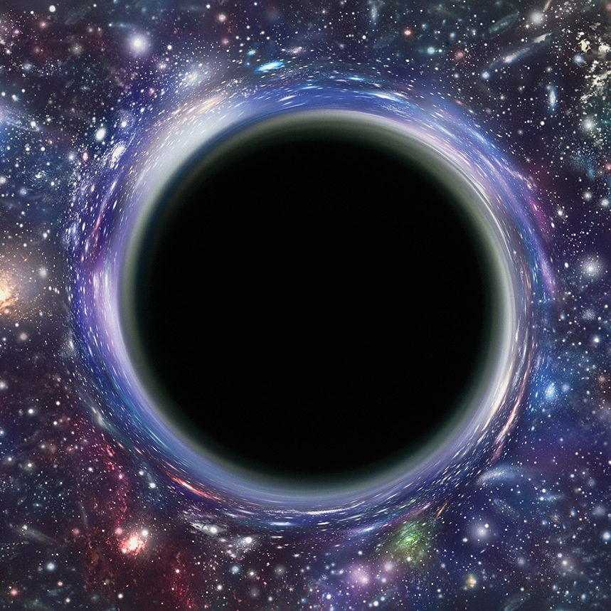 one of the universe's most mysterious phenomena, Black holes are formed when massive stars begin to die and implode (E.g. after a star goes supernova). The gravity is so powerful that they collapse in on themselves causing an even stronger gravitational pull. This creates a chain reaction of MULTIPLE collapses. As the gravity grows even more powerful, not even light can escape. Everything gets pulled towards one, infinitely tiny point called the singularity. black holes are extraordinarily hard to detect, but we can observe their effects on the objects around them.MORE INFO - Black Holes