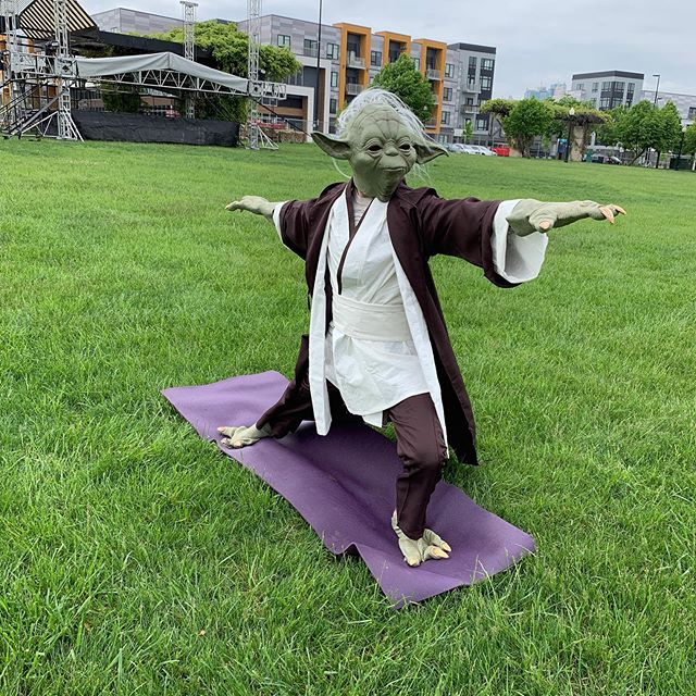 "From our partners @rokcclimb - ""Join @@exploring_roots at the @battle4kc in the Berkley Riverfront Park (@berkleyriverfront)this Saturday, May 4th.  After 10 am yoga at RoKC, get your double dose of yoga (and @jesseandrosayoga) for 2:30 Yoga with Yoda... yes, Yoda.  Your yoga ticket gets you into all the Battle4KC festivities for the day!"" #kc"
