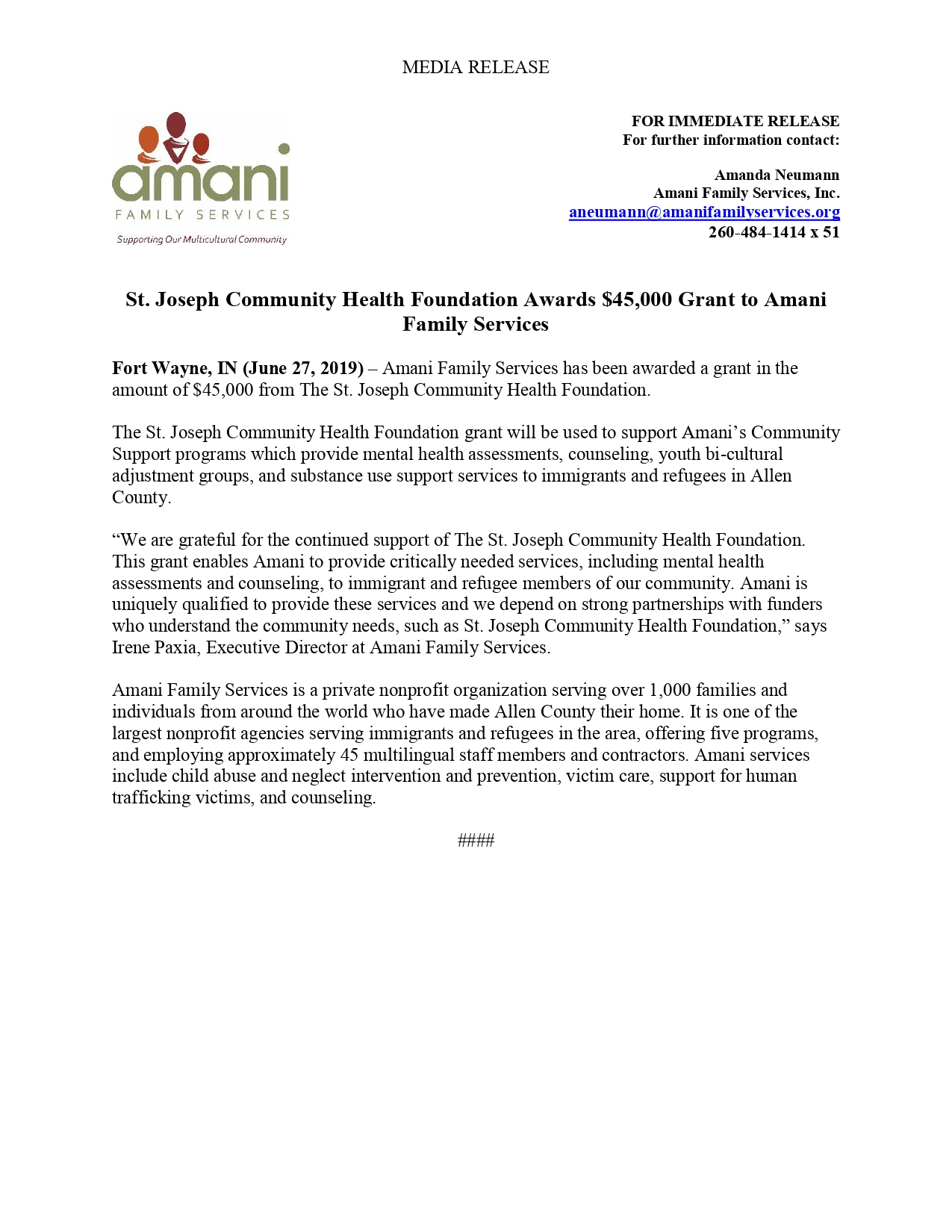 St. Joseph Community Health Foundation 2019 Press Release_pages-to-jpg-0001.jpg