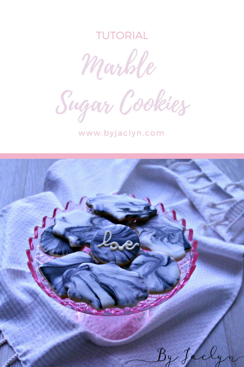 Marble and Gold Sugar Cookie Decorating Tutorial with Royal Icing