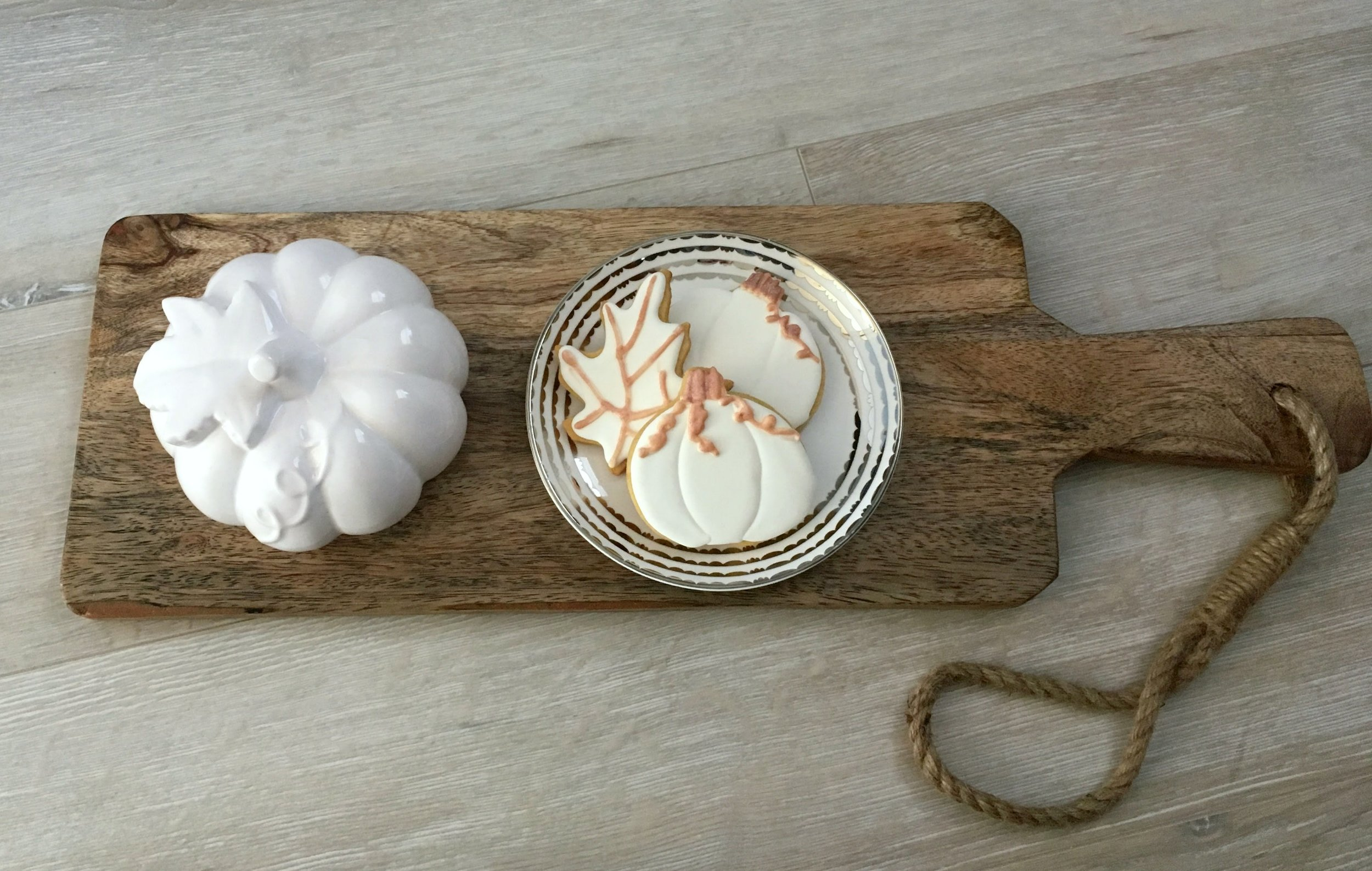 Pumpkin Spice Sugar Cookie Recipe with Maple Royal Icing