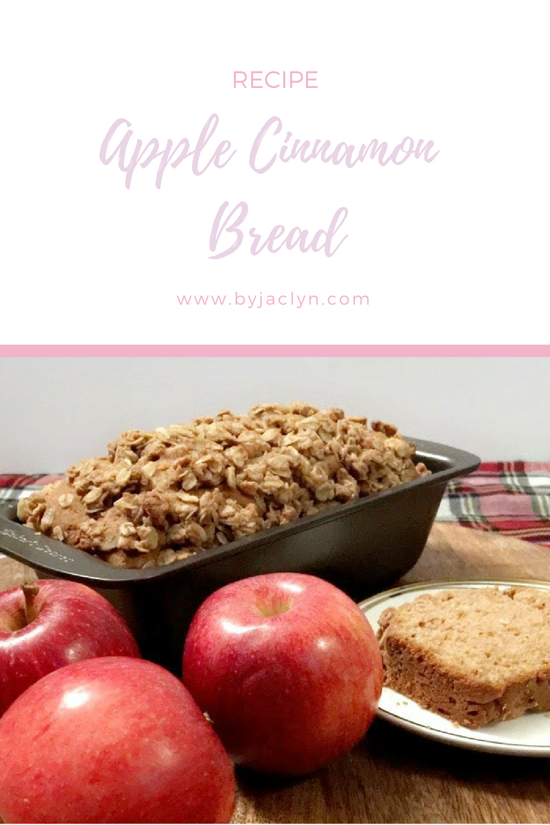 Moist Apple Cinnamon Bread Recipe with Oatmeal Crumble Topping