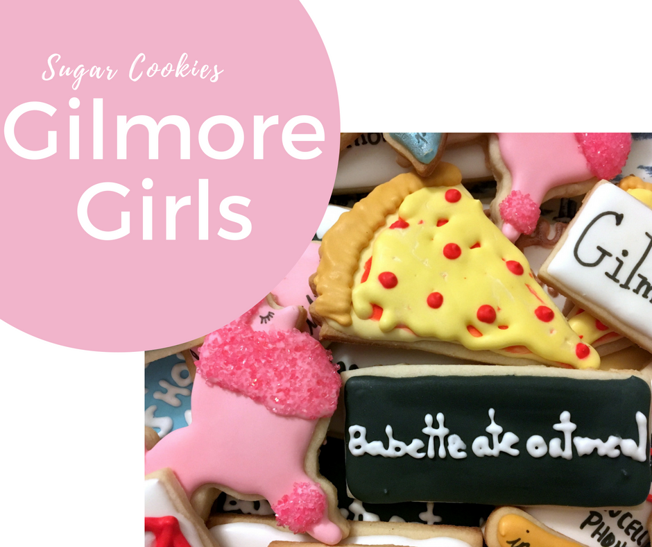 Gilmore Girl Themed Sugar Cookies for the Gilmore Girl's Revival