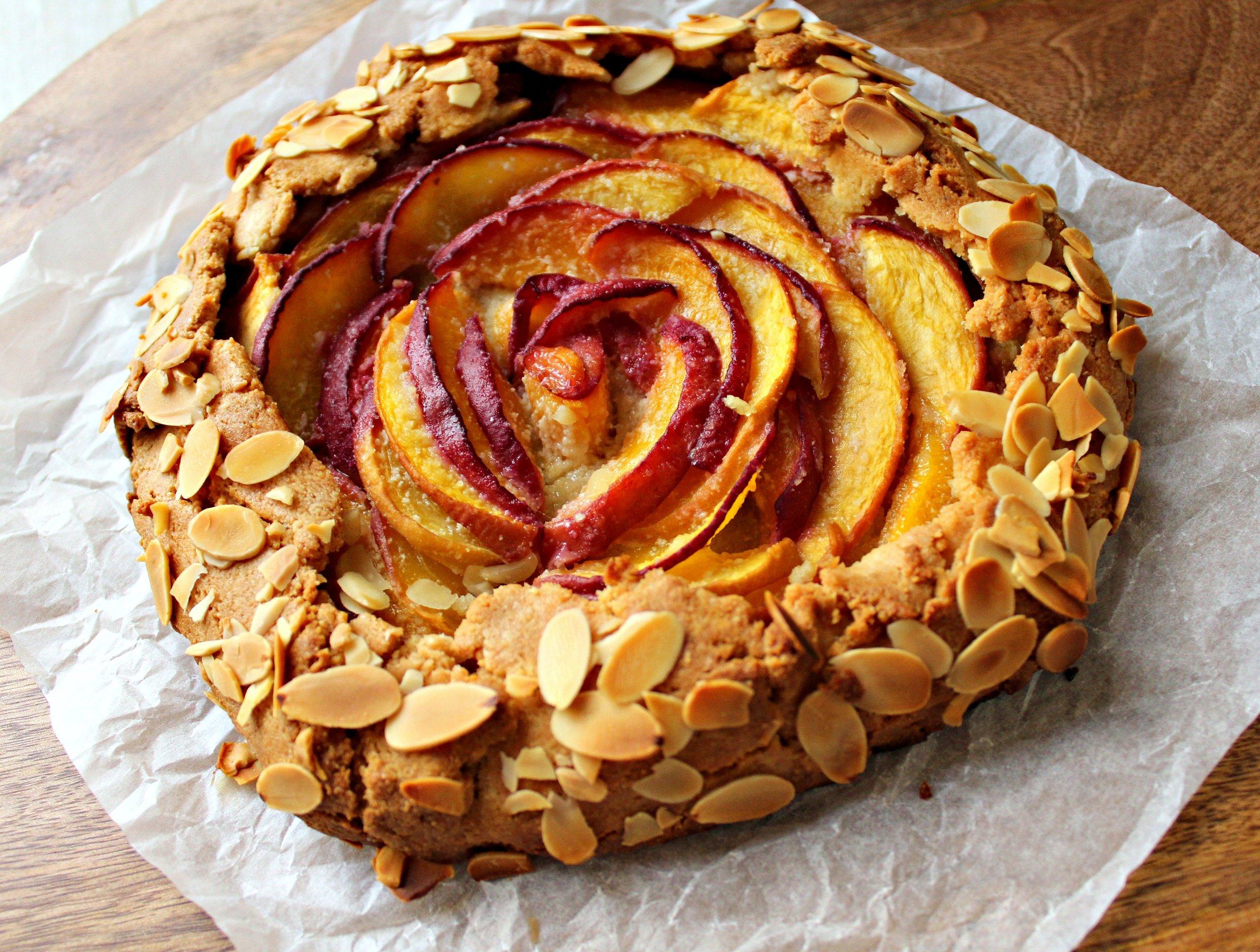 Gluten Free Almond & Peach Galette