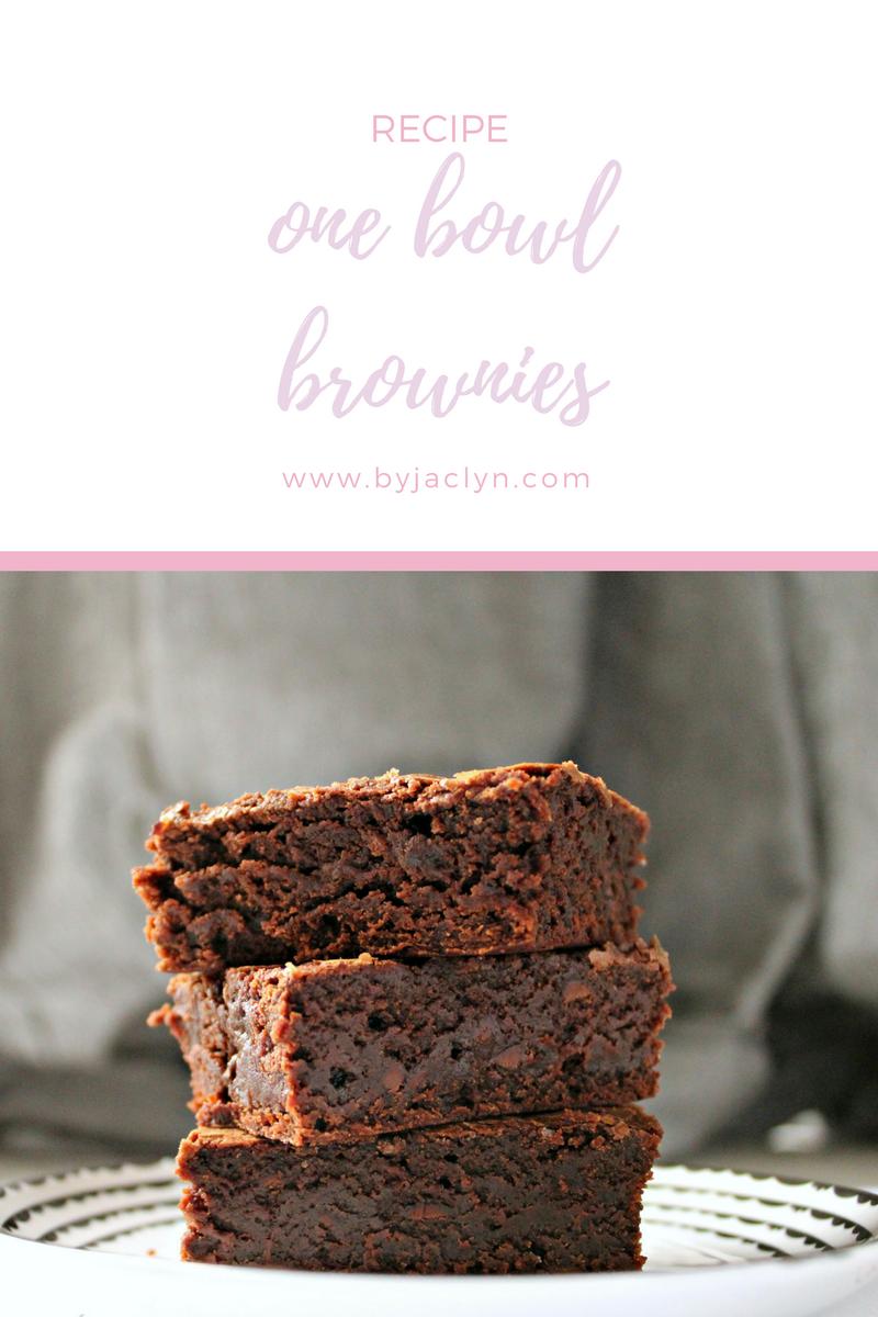 Super dense fudgy one bowl brownies