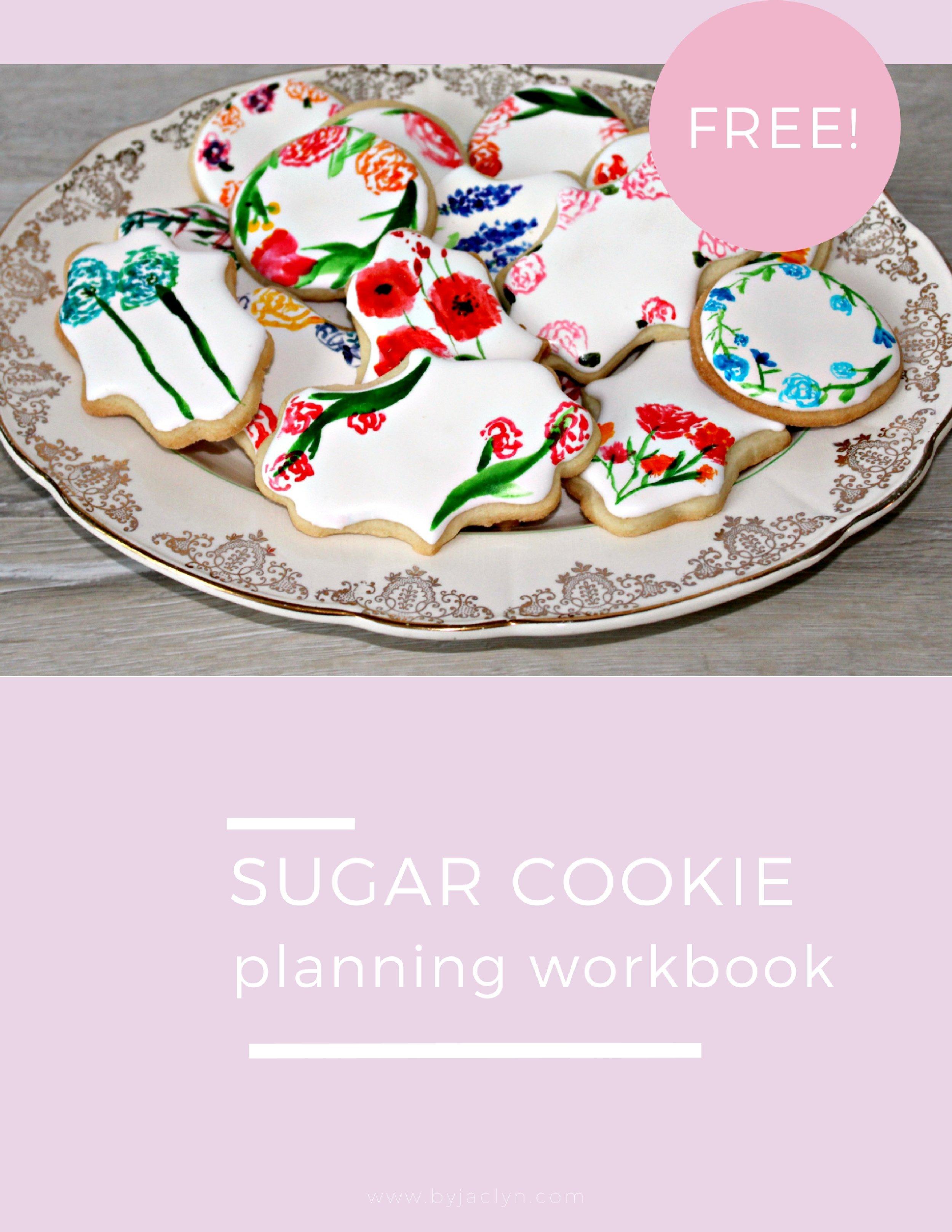 Free Sugar Cookie Planning Workbook