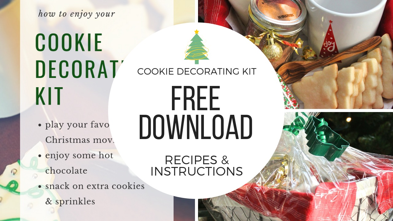 Free Download: Sugar Cookie Decorating Kit with Homemade Hot Chocolate Mix