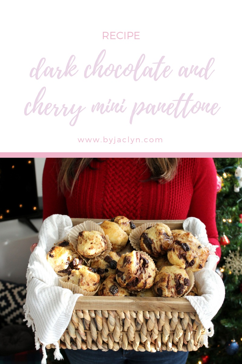 Mini Dark Chocolate & Cherry Panettone