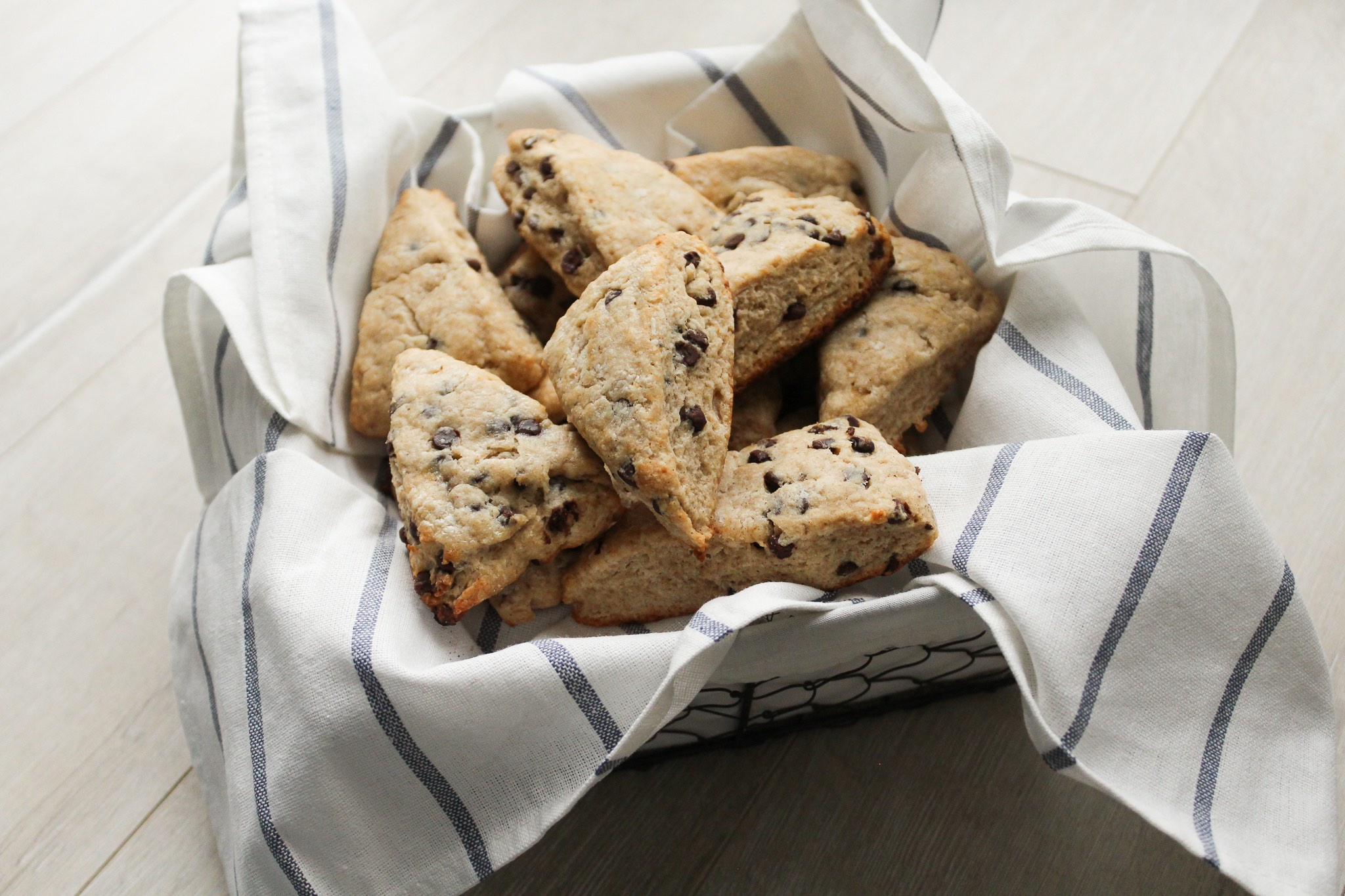 Banana Chocolate Chip Scones