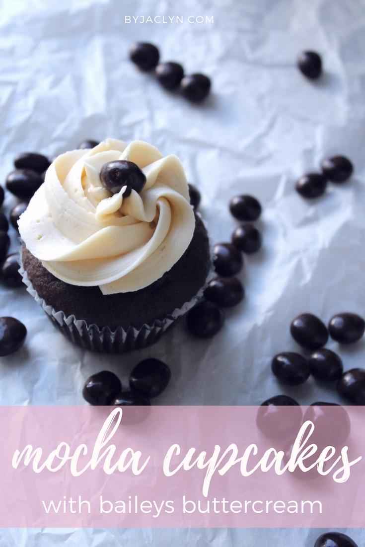 Mocha Cupcakes with Bailey's Buttercream
