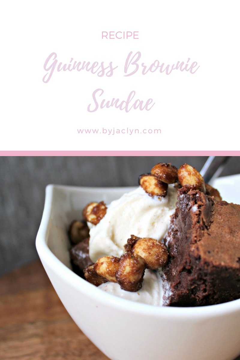 Guinness Brownie Ice Cream Sundae