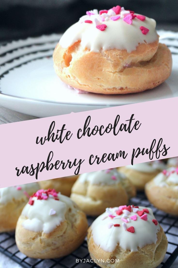White Chocolate Raspberry Cream Puffs