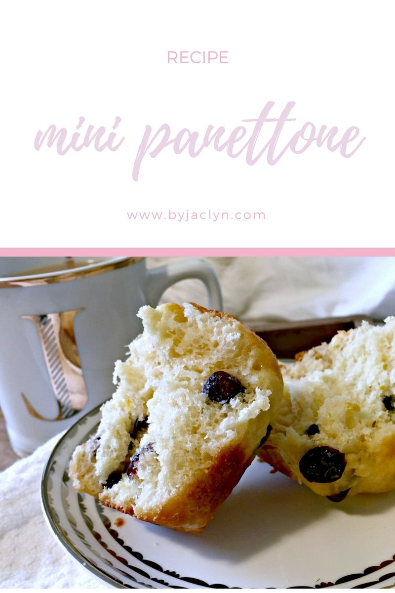 Mini orange cranberry white chocolate panettone - a traditional Italian Christmas Bread with a twist