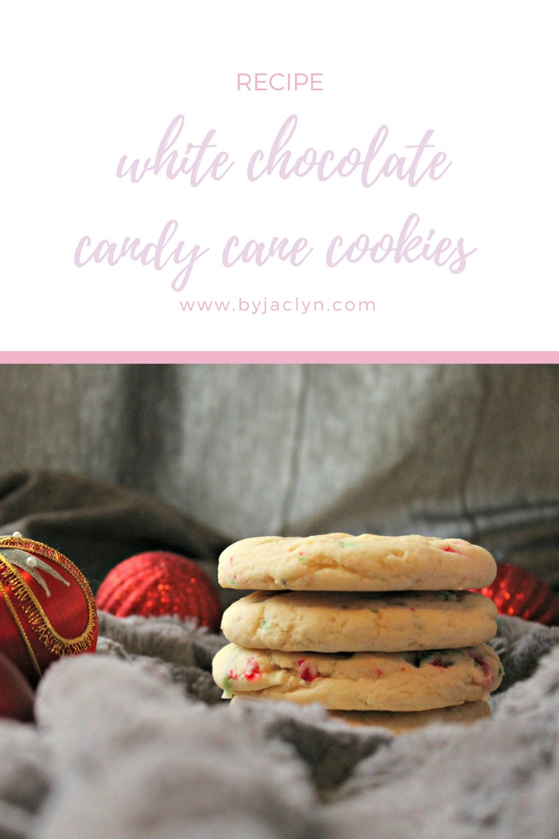 Chewy & Soft White Chocolate Candy Cane Cookies