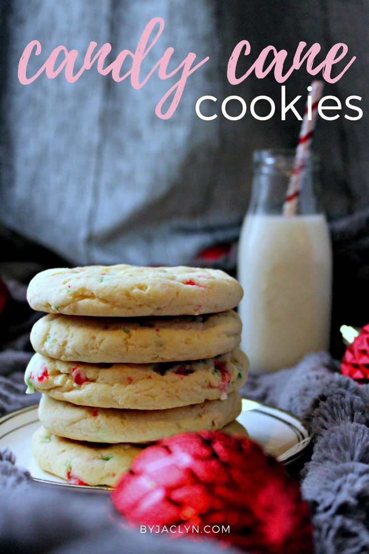 Soft & Chewy White Chocolate Candy Cane Cookies