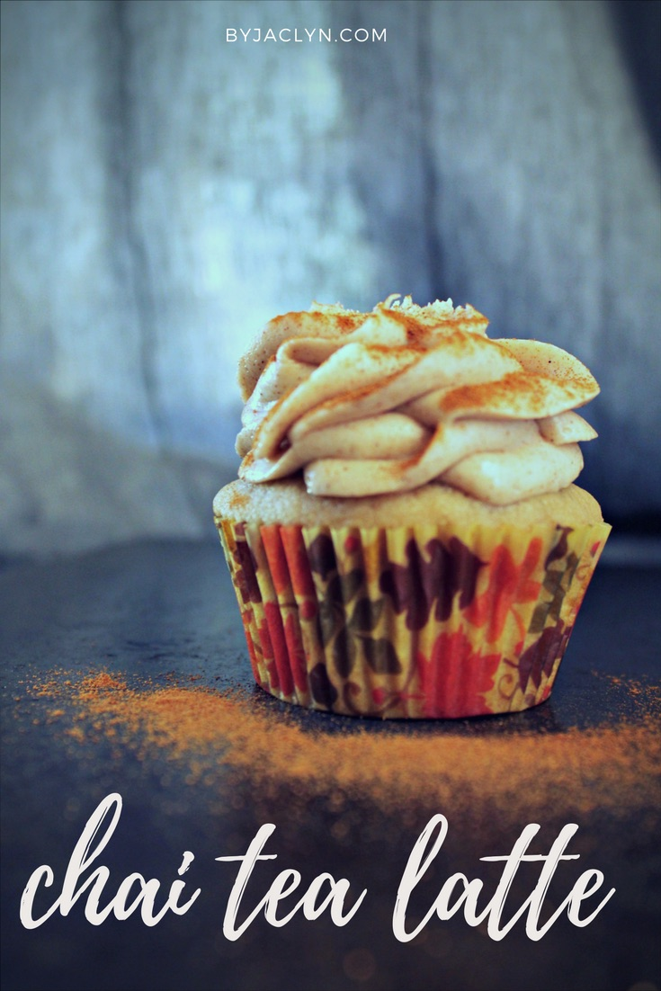Chai Tea Latte Cupcake with Cinnamon Cream Cheese Frosting