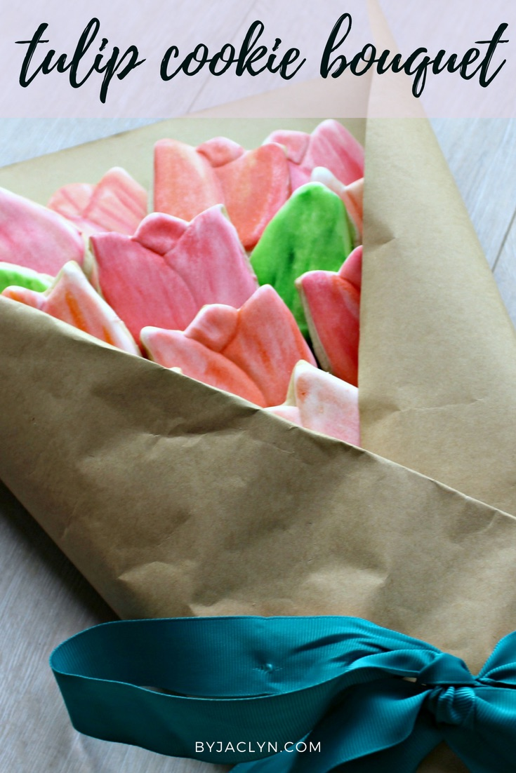 Water Colour Tulip Sugar Cookie Bouquet
