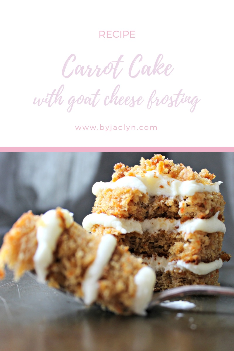 Mini Naked Olive Oil Carrot Cake with Goat Cheese Frosting