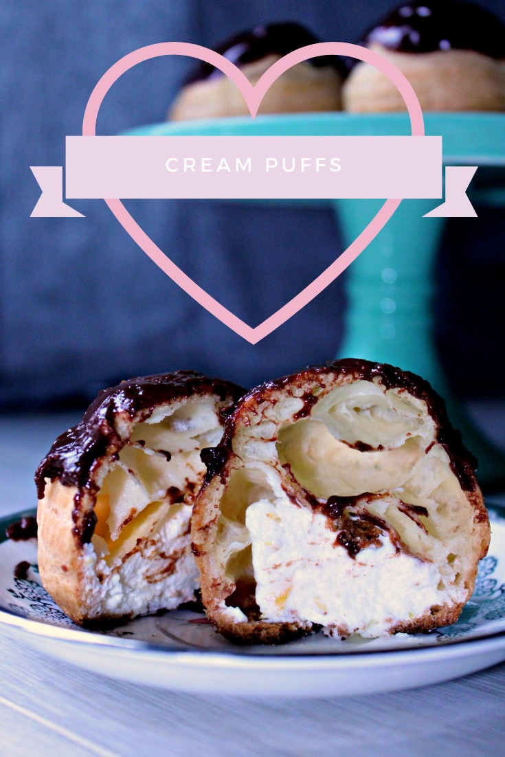 Chocolate Cream Puffs with Orange Whipped Cream Filling