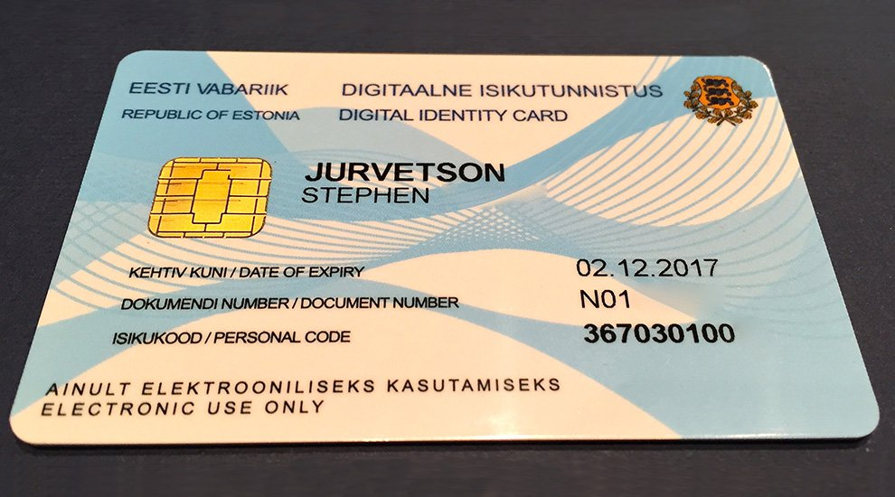 A newer iteration of the Bitnation ID created in partnership with Estonia's e-Residency program