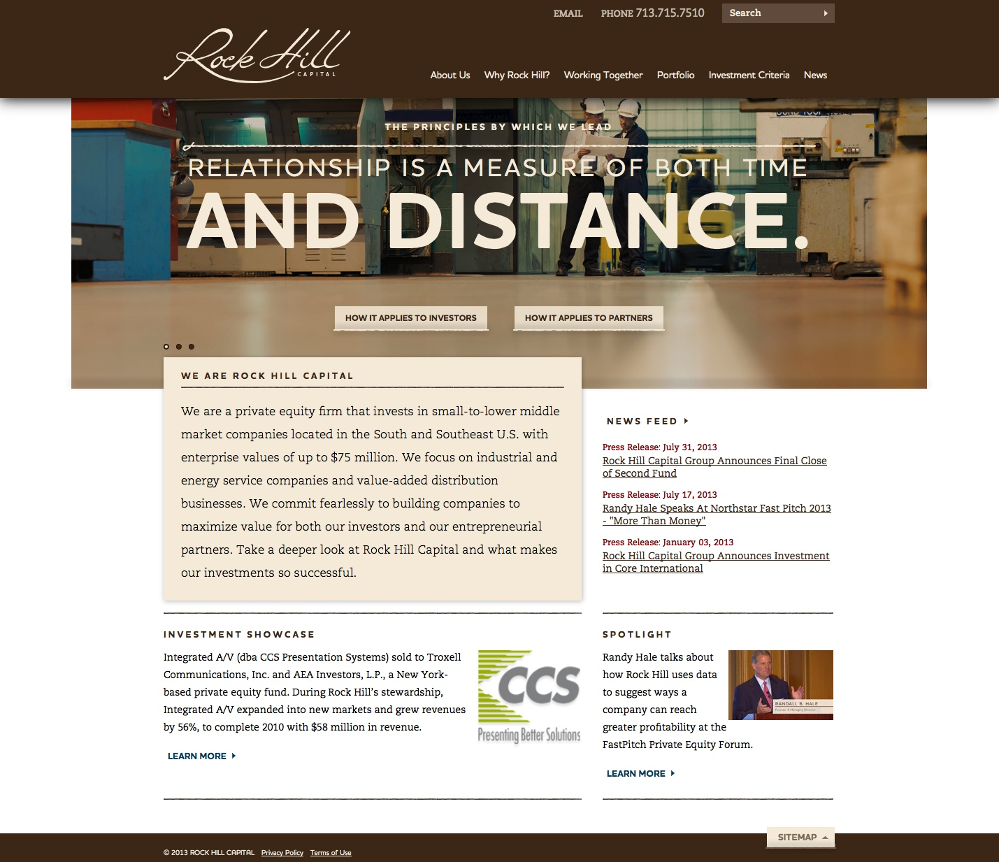Rock Hill Capital Website 2013
