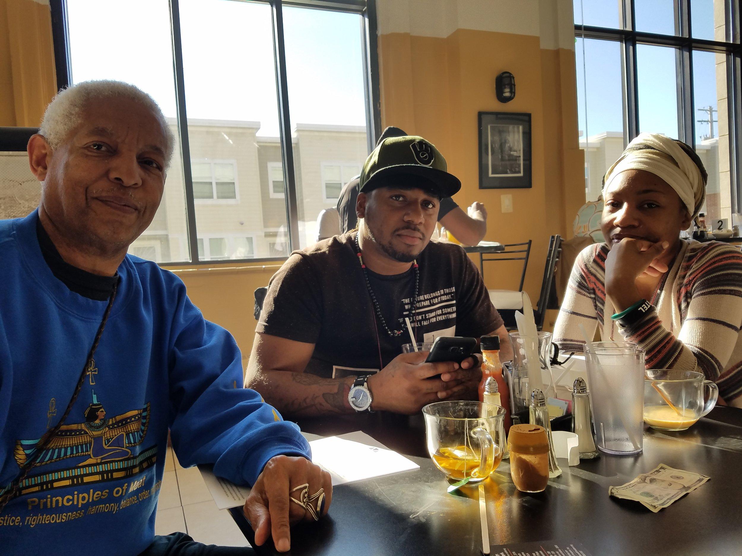 Anthony, Vaun, and Gab.