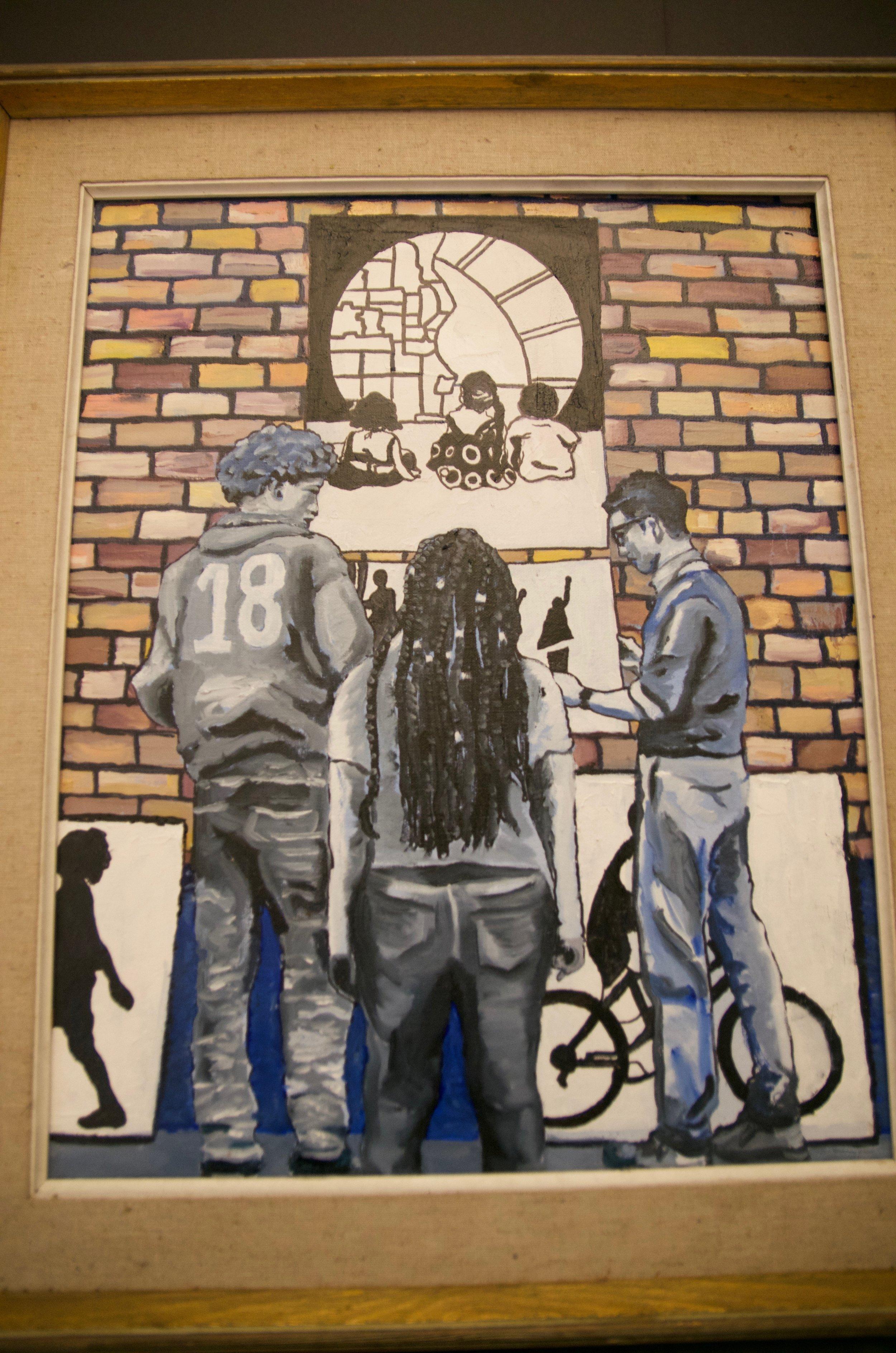 "JEFF ZIMPEL   Oil on canvas | 15""x22"" (framed)   Value:  $400 |  Minimum bid:  $200"