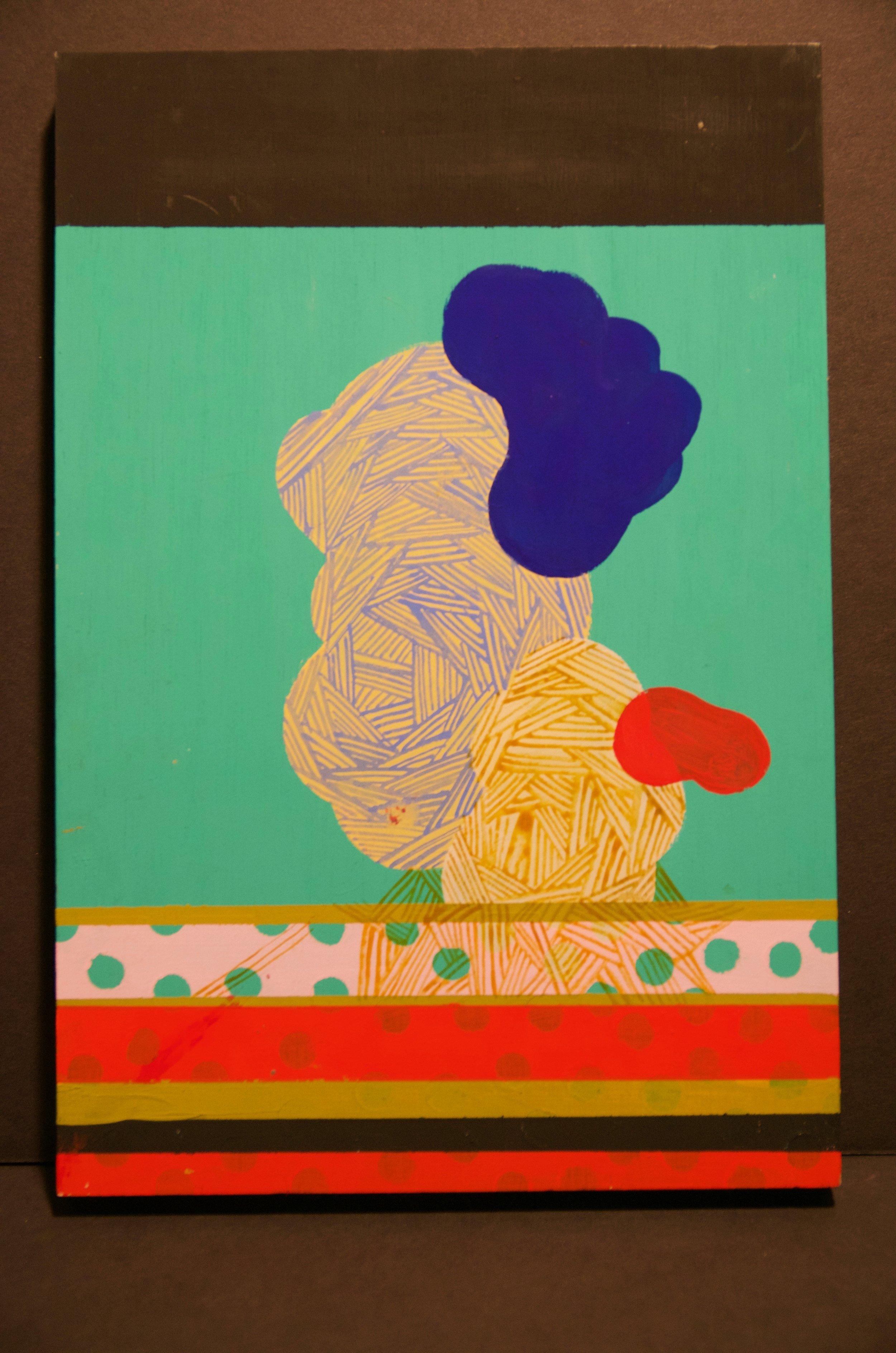 "JILL ENGEL-MILLER   Acrylic on wood | 8""x12"" (unframed)   Value:  $200 |  Minimum bid: $ 150"